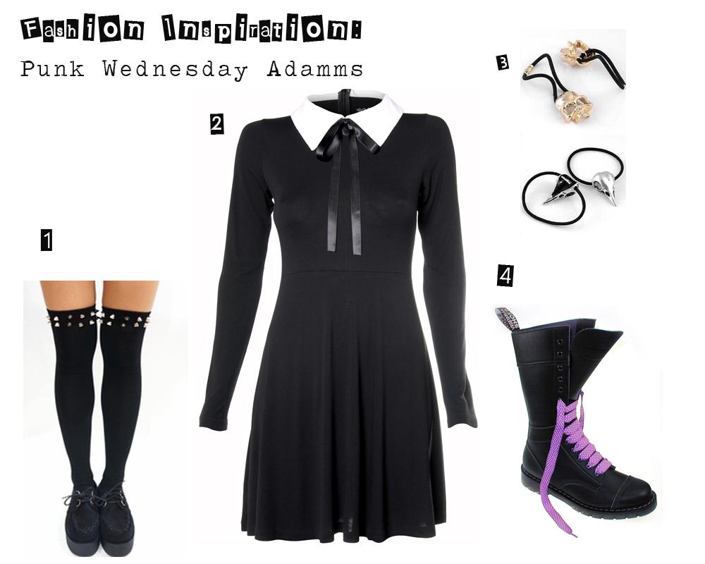 Fashion inspiration-punk wednesday addams