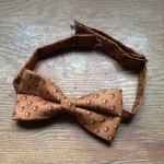 Queen of Hearts Gold  and heart Patterned Bow Tie